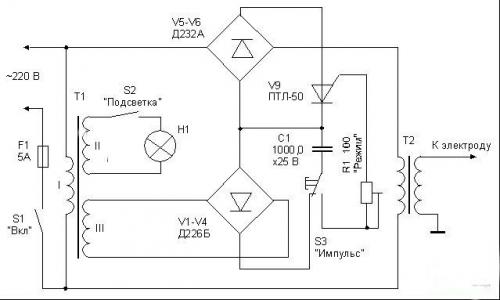 Электрическая схема аппарата