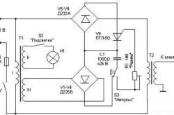 Электрическая схема аппарата для точечной сварки