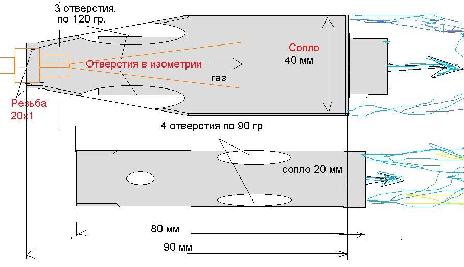 Схема форсунки горелки