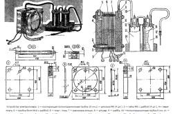Схема электролизера для водородной сварки