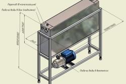 Схема зонта для мангала с подключением к электросети