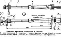 Держатель электродов конструкции В. Аникина