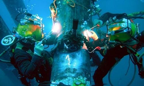 Проведение сварочных работ под водой