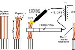 Технология сварки медных скруток угольным электродом