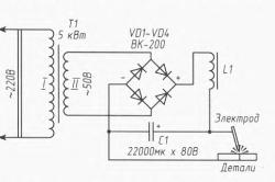 Порядок подключения элементов сварочного аппарата постоянного тока