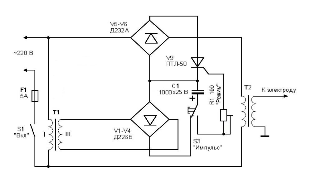 Электрическая схема работы самодельного спотера
