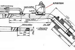 Конструкция горелки сварочного полуавтомата