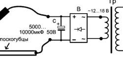 Схема сварки проводов угольным электродом