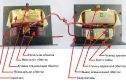 Схема трансформатора для сварочного аппарата