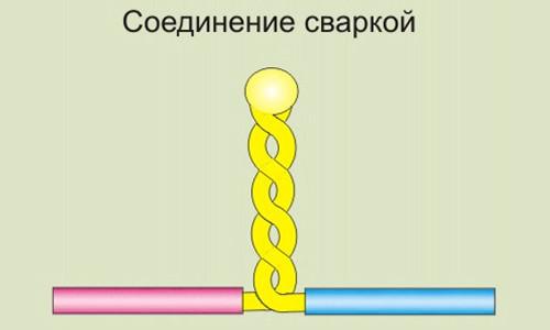 Соединение проводов с помощью сварки