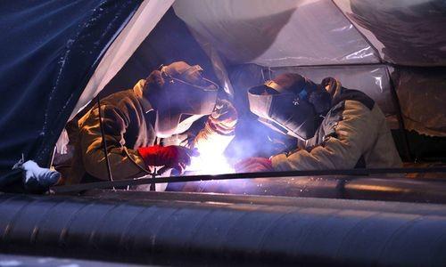 Процесс сварки стальных труб