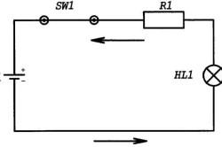 Изменение величины тока с помощью резистора